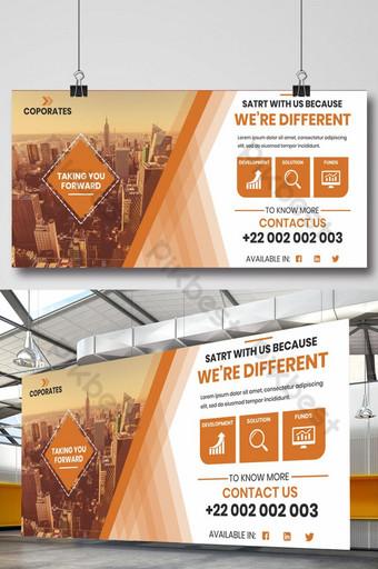 Conception de panneaux d'affichage d'entreprise Modèle PSD