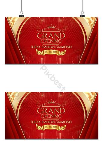 fondo de apertura rojo de lujo Fondos Modelo PSD