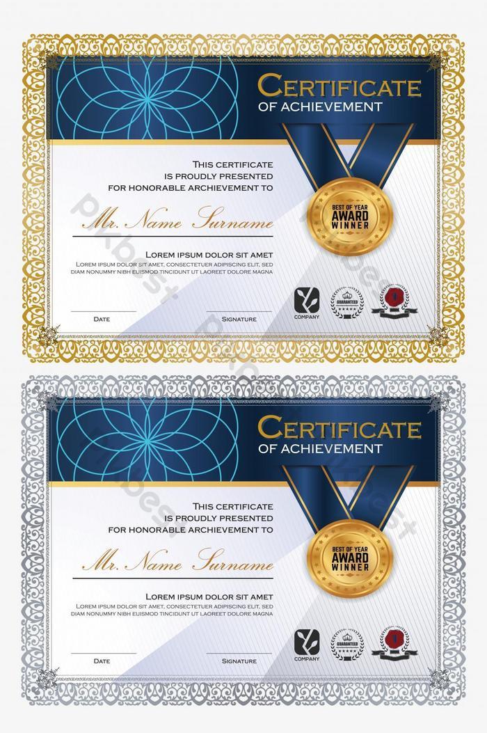 modelo de certificado único gradiente baixo poli