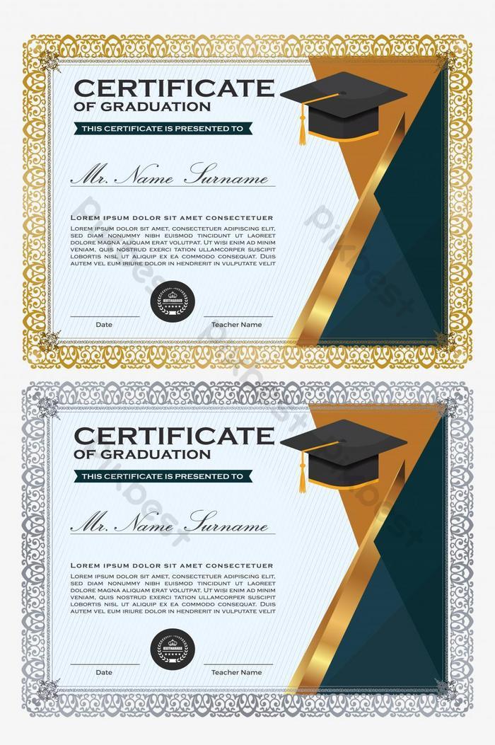modelo de certificado único com faixa dourada