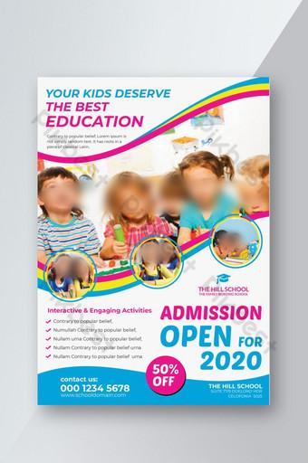 Dépliant d'admission à l'école d'éducation des enfants Modèle PSD