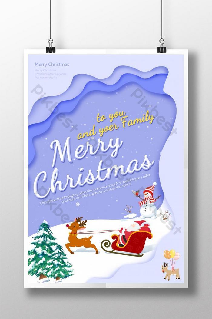 elegancki minimalistyczny plakat świąteczny