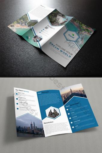 креативная и деловая брошюра шаблон AI
