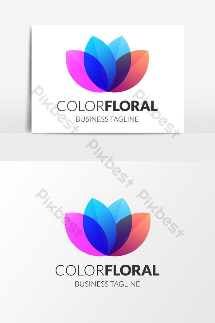 element graficzny kwiatowy wektor kolor