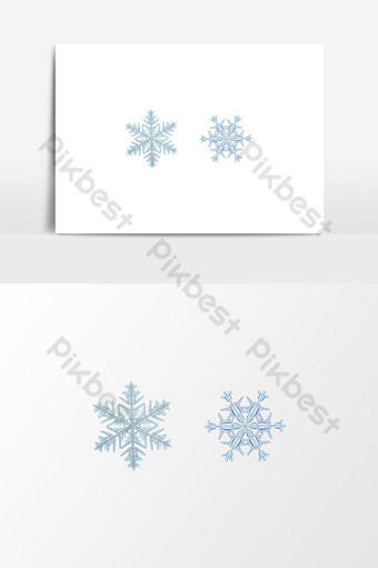 elemento gráfico de vector de copos de nieve Elementos graficos Modelo AI
