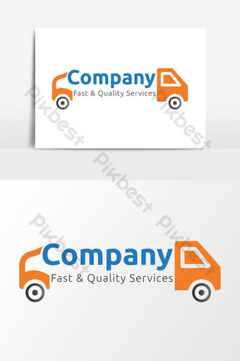 Creative Delivery Service Company Logo PNG Images Template AI
