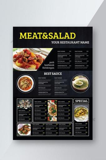 nuevo diseño creativo del menú del restaurante. Modelo AI