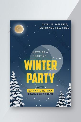 Affiche de la fête d'hiver Modèle PSD
