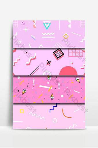 conjunto de colección de fondo lindo patrones retro rosa Fondos Modelo PSD