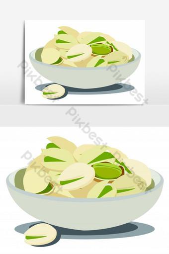 deliciosos pistachos en tazón elemento gráfico vectorial Elementos graficos Modelo EPS