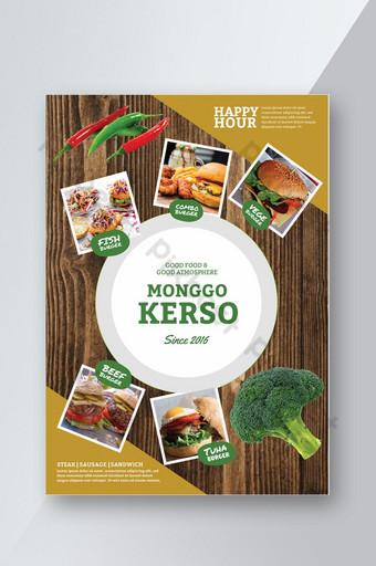 diseño de menú de restaurante Modelo PSD