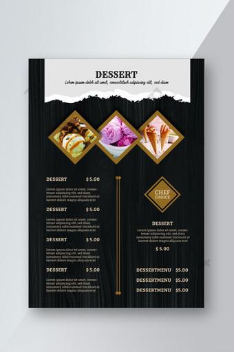 diseño creativo del menú del restaurante Modelo AI