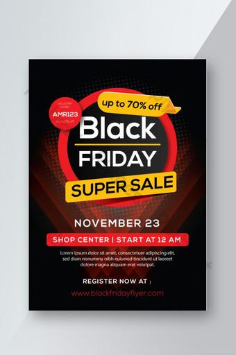Modèle de flyer offre vendredi noir Modèle AI