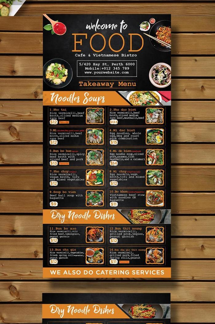 Restaurant Menu Design Psd Free Download Pikbest