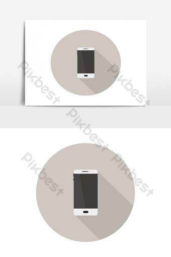 icono de teléfono inteligente Elementos graficos Modelo EPS
