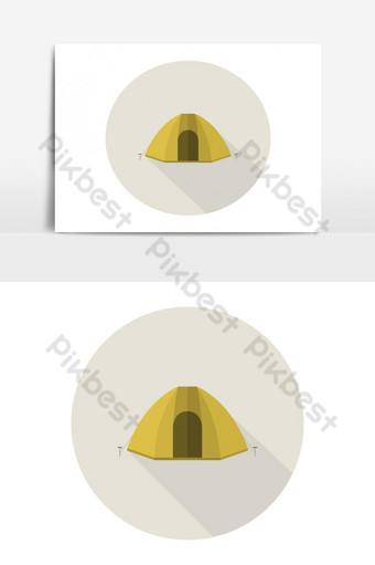 icono de tienda de campaña Elementos graficos Modelo EPS