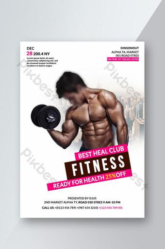 Modèle de conception de flyer de fitness gym Modèle PSD