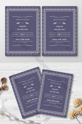 Carte d'invitation de mariage Modèle AI
