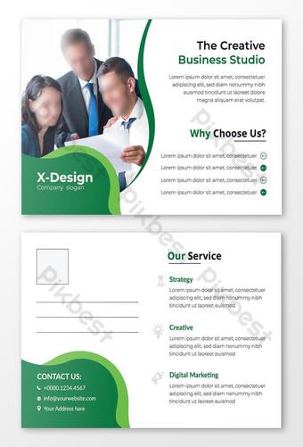 Modèle de conception de carte postale d'entreprise créative Modèle AI
