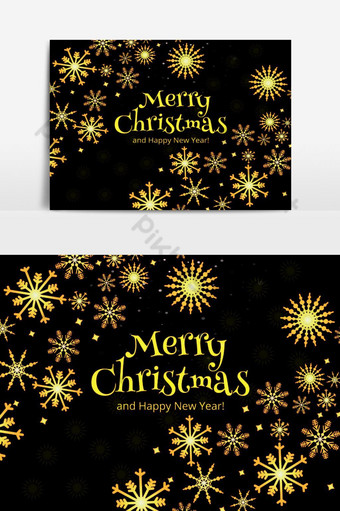 جميلة بطاقة عيد الميلاد الاحتفال عطلة الخلفية صور PNG قالب PSD