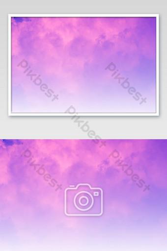 hermoso cielo y nubes en suave color pastel nube en el fondo del cielo color púrpura Fotografía Modelo JPG