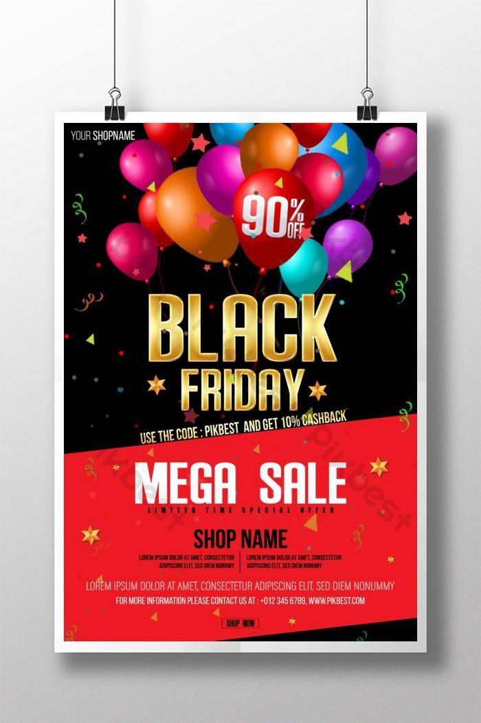 affiche de la méga vente du vendredi noir