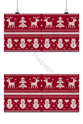 Fond tricoté sans couture de Noël Cartes de voeux de Noël et du nouvel an Fond Modèle EPS