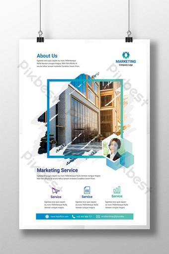 Marketing Service Corporate business flyer template Template PSD