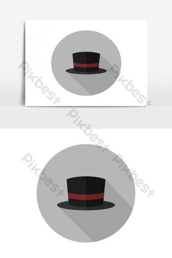 icono de sombrero Elementos graficos Modelo EPS
