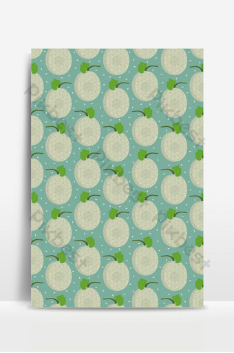 Melon whole seamless pattern on green background with seed, Fresh cantaloupe melon pattern Backgrounds Template EPS
