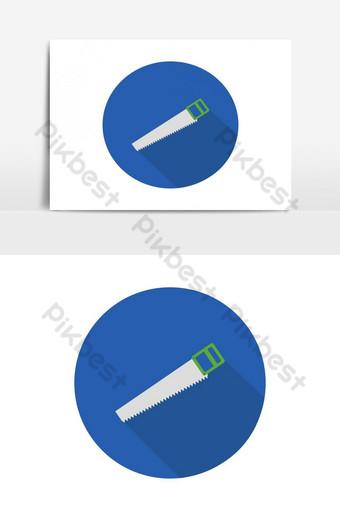 icono de sierra Elementos graficos Modelo EPS