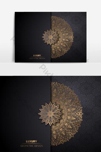Fondo de diseño de mandala ornamental de lujo en color dorado vector gratuito Elementos graficos Modelo AI