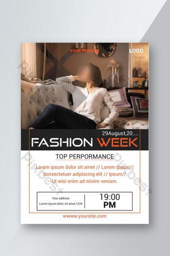 Modèle de Flyer d'offre de vente de la semaine de la mode Modèle AI