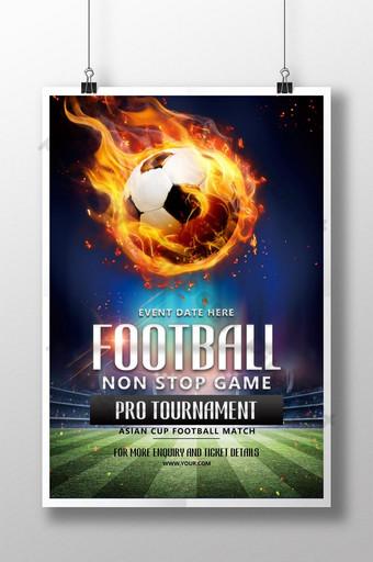 pôster criativo de futebol de fogo Modelo PSD