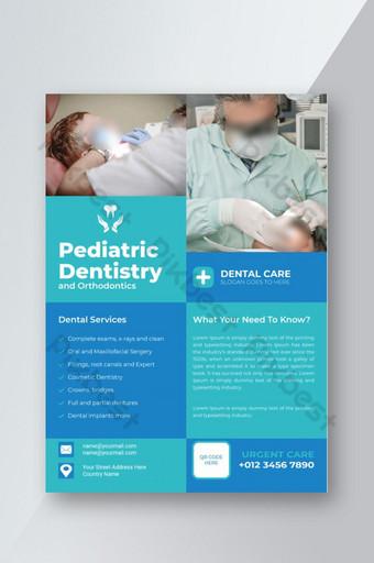 Dépliant sur la santé des soins dentaires médicaux Modèle AI