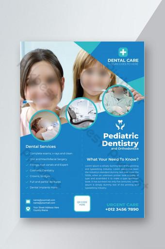 Dépliant sur les services de soins dentaires Modèle AI
