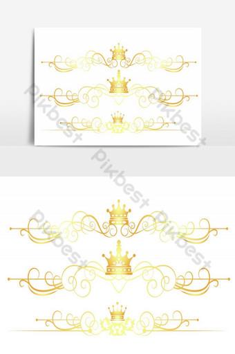 preciosas etiquetas vectoriales de color dorado Elementos graficos Modelo PSD