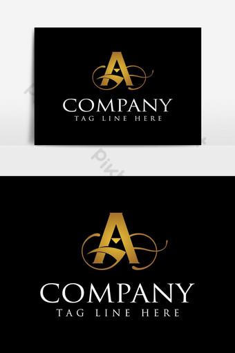 letra del alfabeto un logo de lujo dorado Elementos graficos Modelo AI