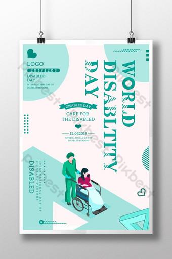 크리 에이 티브 세계 장애인의 날 포스터 템플릿 PSD