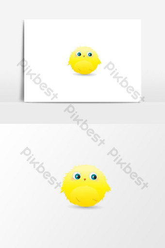 dibujos animados pájaro amarillo arte gráfico Elementos graficos Modelo AI