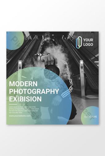 plantilla de diseño de publicación de instagram de fotografía Modelo AI