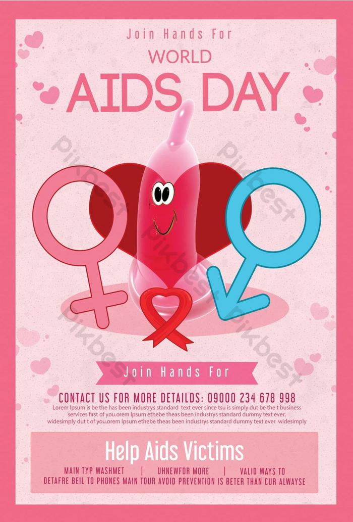 Join Hands For World Aids Day Poster Template Psd Free Download Pikbest
