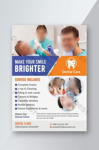 Dépliant médical dentaire Modèle PSD