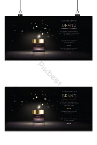 Cosmetic series for skin care Backgrounds Template AI