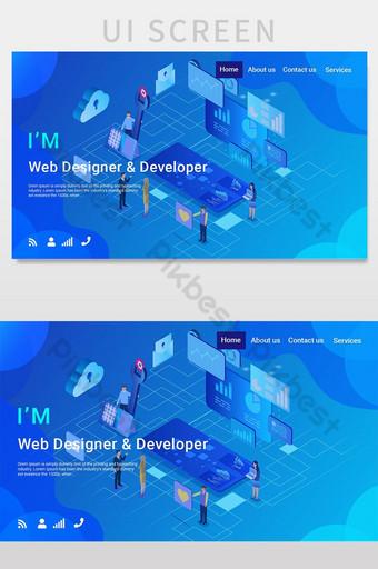Web Portfolio Page UI Screen UI Template PSD