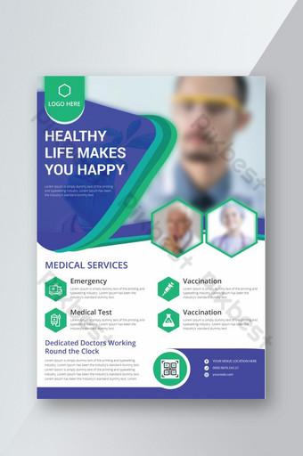 Modèle de conception de flyer médical et de santé moderne professionnel d'entreprise Modèle AI