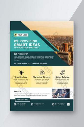 Conception de flyers d'idées intelligentes d'entreprise Modèle PSD