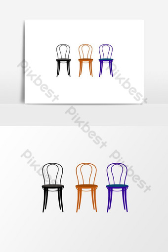 colored seat chair PNG Images Template AI