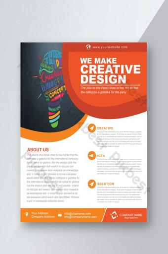 Conception de flyers d'entreprise d'idées créatives Modèle AI
