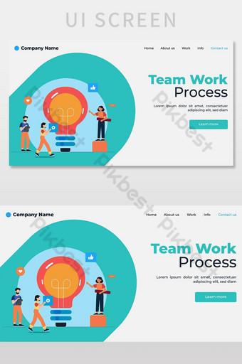 Teamwork Landing Page UI Screen UI Template AI